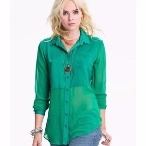 FREE PEOPLE Best of Both Worlds Button Down Tunic